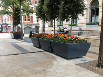 outdoor seating - public seating - Hartecast help Derry look its best the Fleadh